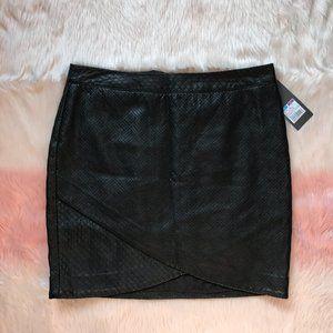 NWT Mossimo Faux Leather Mini Skirt Faux Wrap